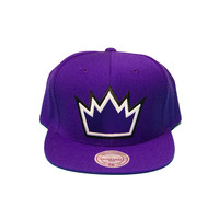 Nba Sacremento Kings Solid Snapback In Purple