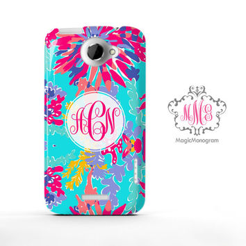 Trippin and Sippin Lilly Pulitzer Monogram HTC Case M9, M8 Case