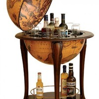 World Globe Bar - Opulentitems.com