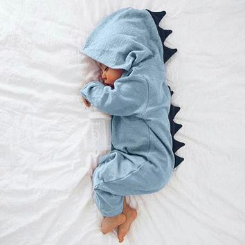 USPS baby clothes Newborn Baby dinosaur Infant Baby Boy Girl Dinosaur Hooded Romper Jumpsuit Outfits Clothes winter clothes