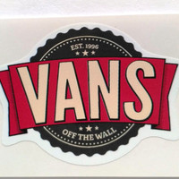 Vinyl Sticker #33.  Vans sticker. Tumblr vinyl stickers, Vinyl Decal, Laptop Vinyl Stickers, Fun Stickers.