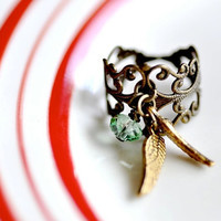 Customizable Angel Ring by DobleEle on Etsy