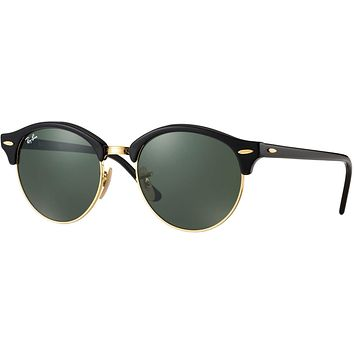 Ray Ban Round Clubmaster Sunglass Black RB 4246 901