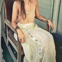 FP ONE Ribbon Corset Maxi on Free People