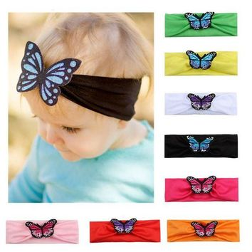 ONETOW Cute Knitted Butterfly Headband Headwraps Hair Band Newborn  Hair Accessories H9
