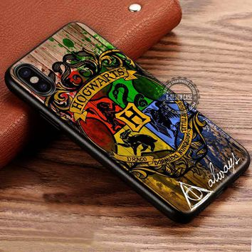 Harry Potter Hogwarts Wizard Wood iPhone X 8 7 Plus 6s Cases Samsung Galaxy S8 Plus S7 edge NOTE 8 Covers #iphoneX #SamsungS8