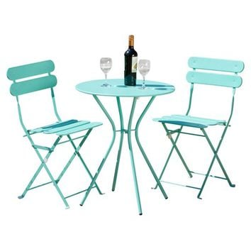 Breakwater Bay Newark 3 Piece Bistro Set & Reviews | Wayfair