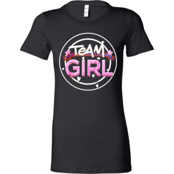 Team Girl Baby Shower Gender Reveal Pregnancy Bella Shirt