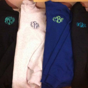 Monogrammed Quarter Zip Sweatshirts by TheInitialedLife on Etsy
