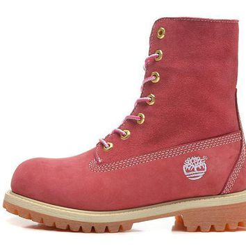 ESBON Timberland Rhubarb Boots 10061 High Tops Shoes Pink Waterproof Martin Boots