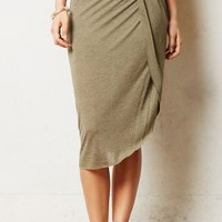 Draped Jersey Skirt by