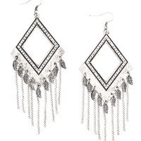 Women's Diamond Cut-Out Earring in Silver by Daytrip.