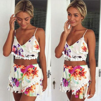 Vibrant Floral Two-Piece