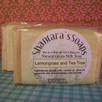 Goat Milk Soap Lemongrass and Tea Tree Essential by ShantarasSoaps