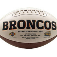 Signature Series Team Full Size Footballs - Denver Broncos