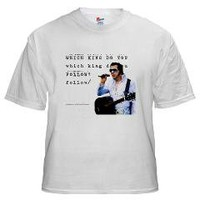 Elvis or Jesus White T-Shirt> Elvis or Jesus> Cross Threads