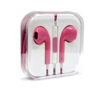 Brand New High Quality 3.5 mm Earphone In-ear Headphone with Microphone & Volume Control for iPhone iPad iPod and Mp3 Mp4 Player (hot pink)