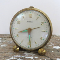 Heco Alarm Clock Rocket Clock Brass Clock Tiny Heco Clock