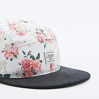 Cayler & Sons Rose 5-Panel Cap in White and Black - Urban Outfitters