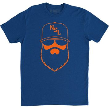 NSL Beard League Men's T-Shirt Royal/Orange