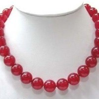 Simple 18-inch Ruby Necklace