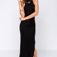 LULUS Exclusive As the World Curves Black Maxi Dress