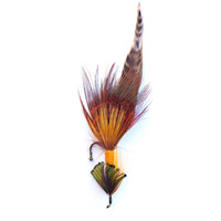Rustic Autumn Color Fly Fishing Boutonniere