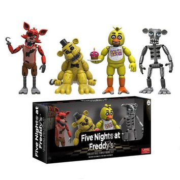 New Arrival  PVC Figure Five Night At  Action Figures Toys Foxy Freddy Toys for Children Kids Collection Toys