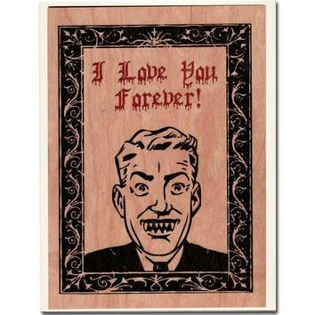 Wood Folding Card Vampire Love