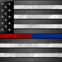 Police Firefighter  Thin Blue Red Line on American Flag Car Truck Plate Tag