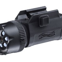 Umarex Walther 2252548 Air Rifle Laser Sight with 6 LED Flashlight & Center Laser, Black