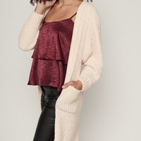 Girls Like Me Chenille Knitted Cardigan (Ivory)