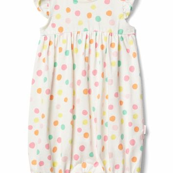 Organic dotty flutter shorty one-piece | Gap