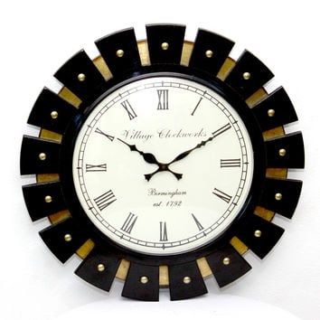 Aakashi Black Fan Wall Clock