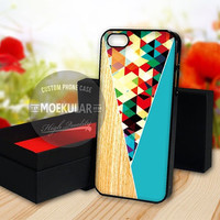 Colorful Polygonal Shape Wood Blue case for Samsung Galaxy S3,S4,S5/Note 2,3/iPod 4th 5th/iPhone 5,5s,5c,4,4s,6,6+[ M03 ] LG Nexus/HTC One