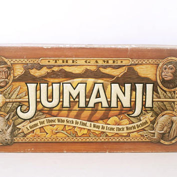 Vintage Original 1990s Jumanji Board Game, Nearly Complete (Needs dice) Milton Bradley 1995
