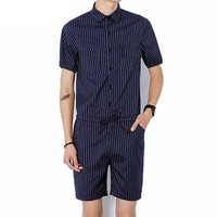 Striped Jumpsuit Harem Overall Male Romper
