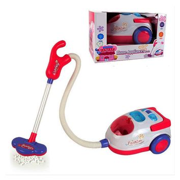 Kids Vacuum Cleaner Electric Dollhouse Mini Furniture Realistic Plastic Pretend Play Toy Room Cleaning Toy