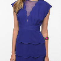 Cooperative Scalloped Peplum Dress