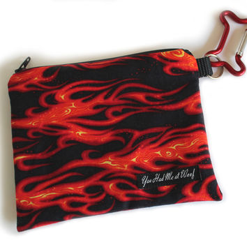 Flames Treat Pouch & Dog Bag Holder