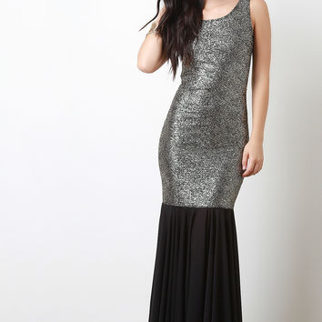 Metallic Mermaid Maxi Dress