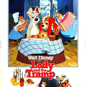 Lady and the Tramp 11x17 Movie Poster (1955)