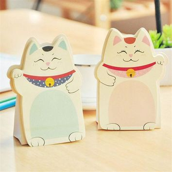 VONC1Y Cute cat Memo Pad Sticky Note Kawaii Paper Scrapbooking Stickers Pad novelty Items Stationery Free shipping   230
