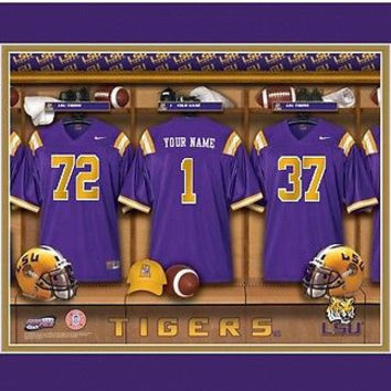 College-NCAA Locker Room Print LSU Tigers  Personalized Tigers!