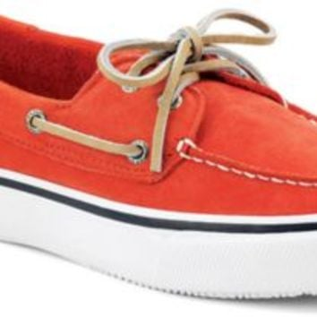 Sperry Top-Sider Bahama Washable 2-Eye Boat Shoe RedWashableNubuck, Size 11M  Men's Shoes