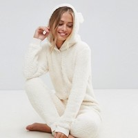 ASOS Teddy Fleece Onesuit at asos.com