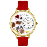 Whimsical Watches Unisex G-0430001 Bridge Lover Red Leather Watch