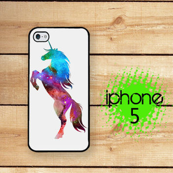 iPhone 5  iPhone 5S Unicorn Nebula 2 | Hard Case for iPhone 5 Plastic or Rubber Trim