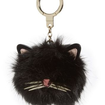 kate spade new york faux fur cat pom bag charm | Nordstrom