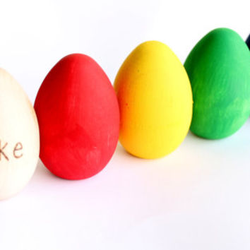 Rainbow Easter Eggs Personalized Wood Toy Montessori Baby Boy Baby Girl Spring Nature Chicken Pretend Kitchen Educational
